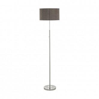 EGLO 95344 | Romao Eglo podna svjetiljka 161,5cm sa tiristorski dodirnim prekidačem 1x LED 2210lm 3000K poniklano mat, krom, smeđe