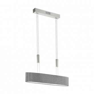 EGLO 95349 | Romao Eglo visilice svjetiljka balansna - ravnotežna, sa visinskim podešavanjem, jačina svjetlosti se može podešavati 4x LED 8000lm 3000K poniklano mat, krom, sivo