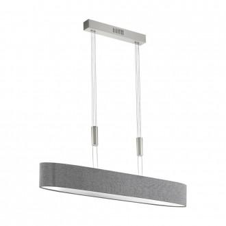 EGLO 95351 | Romao Eglo visilice svjetiljka balansna - ravnotežna, sa visinskim podešavanjem, jačina svjetlosti se može podešavati 1x LED 3000lm 3000K poniklano mat, krom, sivo