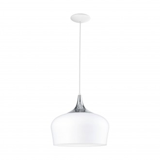 EGLO 95384 | Obregon Eglo visilice svjetiljka 1x E27 bijelo, krom