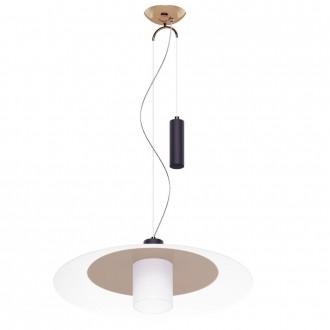EGLO 95464 | Cabral Eglo visilice svjetiljka balansna - ravnotežna, sa visinskim podešavanjem 1x E27 crveni bakar, bijelo, crno