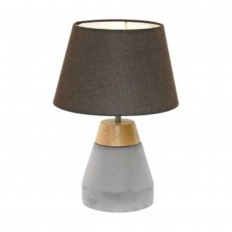 EGLO 95527 | Tarega Eglo stolna svjetiljka 37cm sa prekidačem na kablu 1x E27 sivo, smeđe