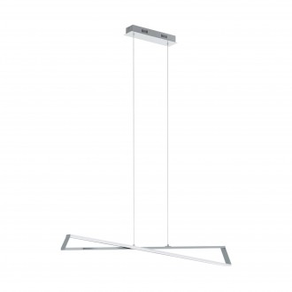EGLO 95566 | Agrela-Corrales Eglo visilice svjetiljka 2x LED 3400lm 3000K krom, bijelo