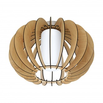 EGLO 95597 | Stellato Eglo stropne svjetiljke svjetiljka 1x E27 javor, bijelo, poniklano mat