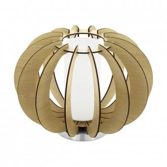 EGLO 95603   Stellato Eglo stolna svjetiljka 21,5cm sa prekidačem na kablu 1x E27 javor, bijelo, poniklano mat