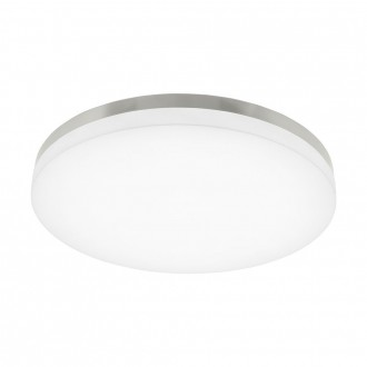 EGLO 95699 | EGLO-Smart_Sortino-S Eglo stropne svjetiljke smart rasvjeta jačina svjetlosti se može podešavati, sa podešavanjem temperature boje 1x LED 3950lm 2700 <-> 5000K poniklano mat, bijelo