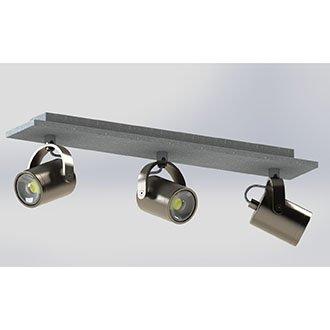 EGLO 95743 | Praceta Eglo spot svjetiljka elementi koji se mogu okretati 3x GU10 720lm 3000K poniklano mat, sivo, krom