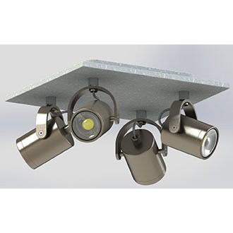 EGLO 95744 | Praceta Eglo spot svjetiljka elementi koji se mogu okretati 4x GU10 960lm 3000K poniklano mat, sivo, krom