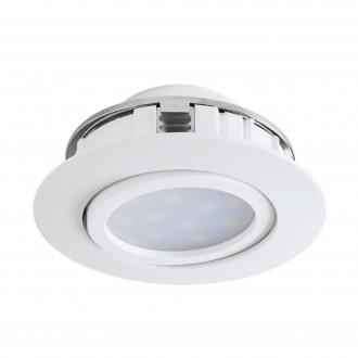 EGLO 95847 | Pineda Eglo ugradbena svjetiljka pomjerljivo Ø84mm 1x LED 500lm 3000K bijelo