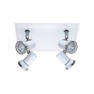 EGLO 95995 | Tamara1-LED Eglo spot svjetiljka 4x GU10 960lm 3000K IP44 bijelo, krom