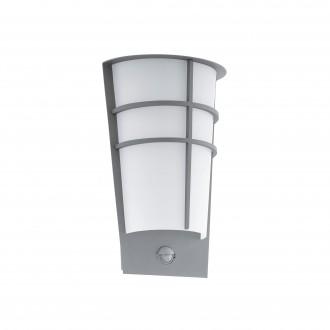 EGLO 96017 | Breganzo Eglo zidna svjetiljka sa senzorom, svjetlosni senzor - sumračni prekidač 2x LED 360lm 3000K IP44 srebrno, bijelo