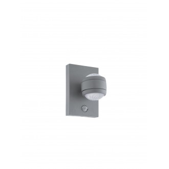 EGLO 96019 | Sesimba Eglo zidna svjetiljka sa senzorom 2x LED 560lm 3000K IP44 srebrno, prozirno