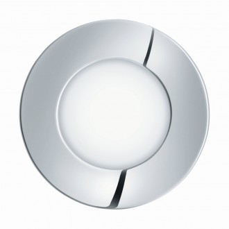 EGLO 96053 | Fueva-1 Eglo ugradbene svjetiljke LED panel okrugli Ø85mm 1x LED 300lm 3000K IP44 krom, bijelo