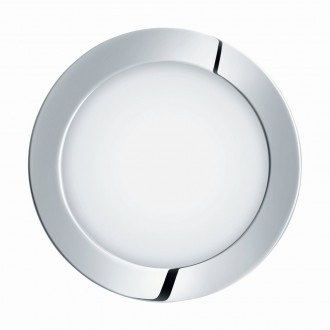 EGLO 96056 | Fueva-1 Eglo ugradbene svjetiljke LED panel okrugli Ø170mm 1x LED 1350lm 4000K IP44 krom, bijelo