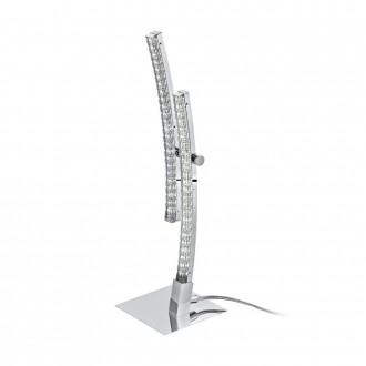 EGLO 96098 | Pertini Eglo stolna svjetiljka 33cm sa prekidačem na kablu 2x LED 1000lm 3000K krom, prozirno