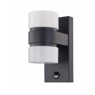 EGLO 96276 | Atollari Eglo zidna svjetiljka sa senzorom 2x LED 1000lm 3000K IP44 antracit, bijelo