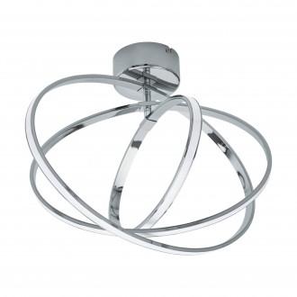 EGLO 96306 | Selvina Eglo stropne svjetiljke svjetiljka 1x LED 1300lm + 1x LED 1000lm 3000K krom, bijelo