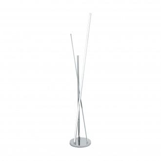 EGLO 96324 | Parri Eglo podna svjetiljka 131,5cm sa nožnim prekidačem 1x LED 1200lm + 1x LED 1300lm 3000K krom, bijelo