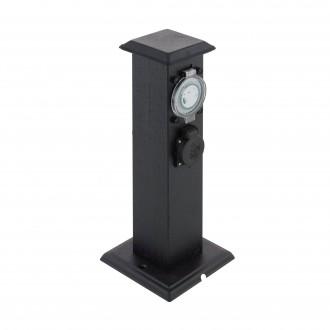 EGLO 96352 | Park-T Eglo utikačni stup pribor timer s utičnicom IP44 crno