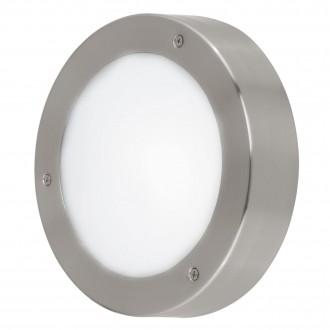 EGLO 96365 | Vento-LED Eglo zidna, stropne svjetiljke svjetiljka okrugli 1x LED 410lm 3000K IP44 plemeniti čelik, čelik sivo, bijelo