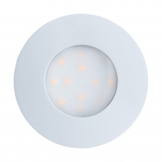 EGLO 96414 | Pineda-IP Eglo ugradbena svjetiljka Ø78mm 1x LED 500lm 3000K IP44 bijelo, opal