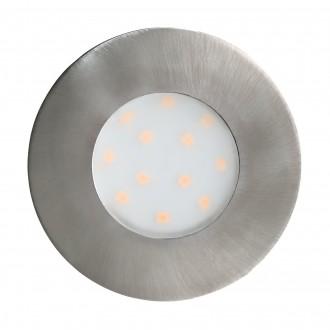 EGLO 96415 | Pineda-IP Eglo ugradbena svjetiljka Ø78mm 1x LED 500lm 3000K IP44 poniklano mat, opal