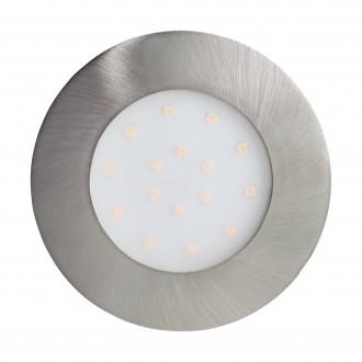 EGLO 96417 | Pineda-IP Eglo ugradbena svjetiljka Ø102mm 1x LED 1000lm 3000K IP44 poniklano mat, opal