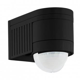 EGLO 96462 | Eglo sa senzorom PIR 360° svjetlosni senzor - sumračni prekidač IP44 crno