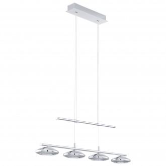 EGLO 96511 | Tarugo Eglo visilice svjetiljka balansna - ravnotežna, sa visinskim podešavanjem, jačina svjetlosti se može podešavati 4x LED 1800lm 3000K krom, bijelo