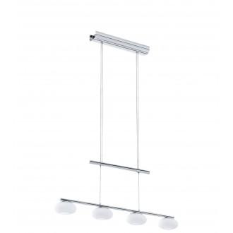 EGLO 96528 | Aleandro Eglo visilice svjetiljka balansna - ravnotežna, sa visinskim podešavanjem, jačina svjetlosti se može podešavati 4x LED 2000lm 3000K krom, bijelo