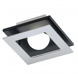 EGLO 96531 | Bellamonte-1 Eglo zidna, stropne svjetiljke svjetiljka jačina svjetlosti se može podešavati 1x LED 510lm 3000K brušeni aluminij, crno, bijelo