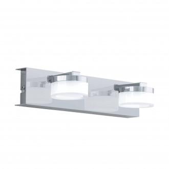 EGLO 96542 | Romendo Eglo zidna svjetiljka jačina svjetlosti se može podešavati 2x LED 1140lm 3000K IP44 krom, saten