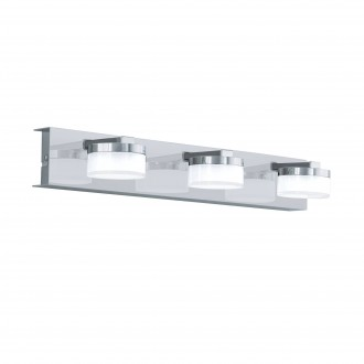 EGLO 96543 | Romendo Eglo zidna svjetiljka jačina svjetlosti se može podešavati 3x LED 1710lm 3000K IP44 krom, saten