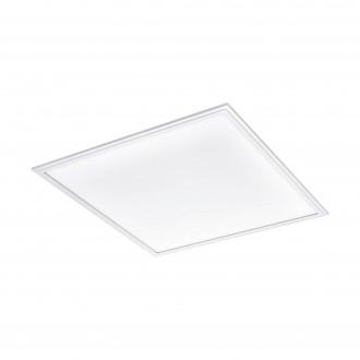 EGLO 96663 | EGLO-Connect-Salobrena Eglo spušteni plafon, stropne svjetiljke, visilice smart rasvjeta četvrtast daljinski upravljač jačina svjetlosti se može podešavati, sa podešavanjem temperature boje, promjenjive boje 1x LED 4300lm 2700 <-> 6500K