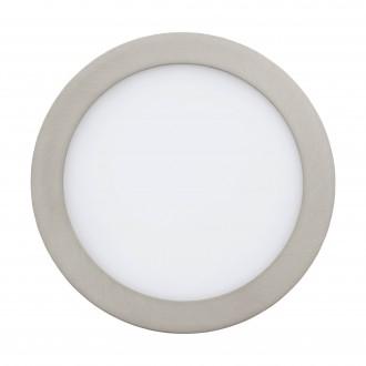 EGLO 96676 | EGLO-Connect-Fueva Eglo ugradbene svjetiljke smart rasvjeta okrugli jačina svjetlosti se može podešavati, sa podešavanjem temperature boje, promjenjive boje Ø225mm 1x LED 2000lm 2700 <-> 6500K poniklano mat, bijelo