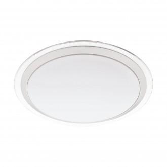 EGLO 96818 | EGLO-Connect-Competa Eglo zidna, stropne svjetiljke smart rasvjeta okrugli jačina svjetlosti se može podešavati, promjenjive boje 1x LED 2100lm 2700 <-> 6500K bijelo, srebrno, prozirna