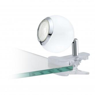 EGLO 96839 | Bimeda Eglo svjetiljke sa štipaljkama svjetiljka sa prekidačem na kablu elementi koji se mogu okretati 1x GU10 240lm 3000K bijelo, krom