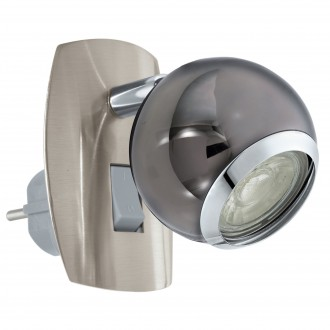 EGLO 96841 | Bimeda Eglo utična svjetiljka spot s prekidačem elementi koji se mogu okretati 1x GU10 240lm 3000K crno nikel, krom