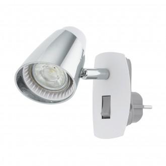 EGLO 96846 | Moncalvio Eglo utična svjetiljka spot s prekidačem elementi koji se mogu okretati 1x GU10 240lm 3000K bijelo, krom