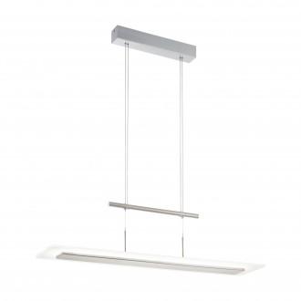 EGLO 96864 | Manresa Eglo visilice svjetiljka balansna - ravnotežna, sa visinskim podešavanjem, jačina svjetlosti se može podešavati 1x LED 3020lm 3000K poniklano mat, saten