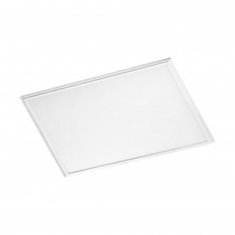 EGLO 96897 | Salobrena-RW Eglo spušteni plafon, stropne svjetiljke, visilice LED panel, Relax & Work četvrtast s impulsnim prekidačem jačina svjetlosti se može podešavati, sa podešavanjem temperature boje 1x LED 4600lm 2700 - 4000K bijelo