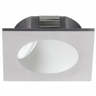 EGLO 96902 | Zarate Eglo ugradbena svjetiljka 80mm 1x LED 200lm 3000K srebrno, bijelo