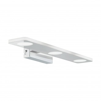 EGLO 96937 | Cabus Eglo zidna svjetiljka 3x LED 1260lm 3000K IP44 krom, bijelo