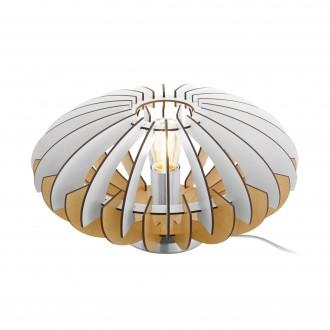 EGLO 96965   Sotos Eglo stolna svjetiljka 19cm sa prekidačem na kablu 1x E27 poniklano mat, smeđe, bijelo