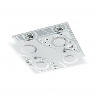 EGLO 96999 | Aquila Eglo zidna, stropne svjetiljke svjetiljka 4x GU10 960lm 3000K krom, prozirna, bijelo