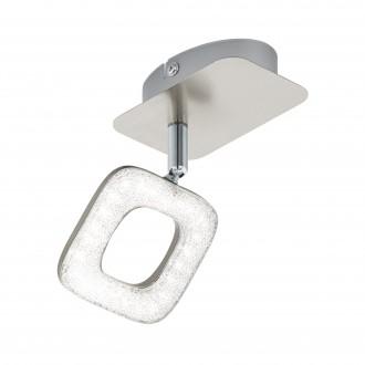 EGLO 97001 | Litago-Crystal Eglo spot svjetiljka elementi koji se mogu okretati 1x LED 350lm 3000K poniklano mat, bijelo