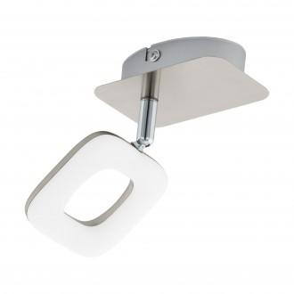 EGLO 97006 | Litago Eglo spot svjetiljka elementi koji se mogu okretati 1x LED 350lm 3000K poniklano mat, bijelo