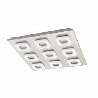 EGLO 97013 | Litago Eglo zidna, stropne svjetiljke svjetiljka 9x LED 3150lm 3000K poniklano mat, bijelo