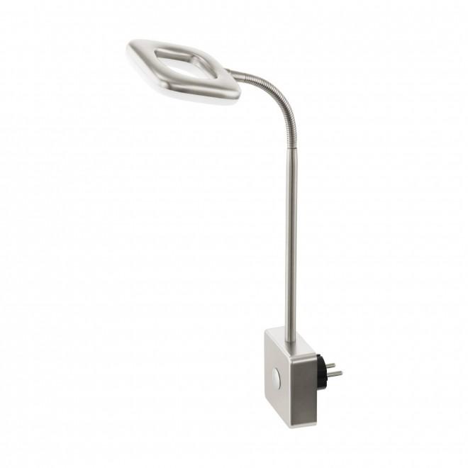 EGLO 97015 | Litago Eglo utična svjetiljka spot sa dodirnim prekidačem fleksibilna 1x LED 350lm 3000K poniklano mat, bijelo