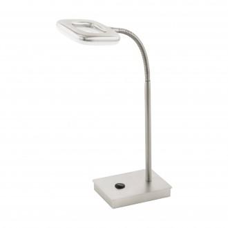 EGLO 97017 | Litago Eglo stolna svjetiljka 37cm sa dodirnim prekidačem fleksibilna 1x LED 350lm 3000K poniklano mat, bijelo